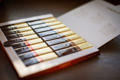Chocolate de Merci - marca de caramelo de chocolate manufacturada por la compañía alemana August Storck, vendido en más de 70 paí fotos de archivo libres de regalías