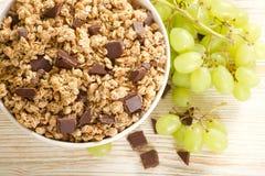 Chocolate de Muesli Foto de archivo libre de regalías