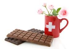Chocolate de Suiza Fotos de archivo libres de regalías
