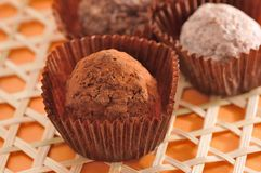 Chocolate de Truffe Fotografía de archivo