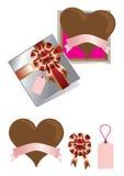 Chocolate del amor para el día de tarjeta del día de San Valentín imagen de archivo