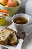 Chocolate del cinamomo del té Fotos de archivo libres de regalías