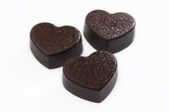 Chocolate del corazón Imagen de archivo