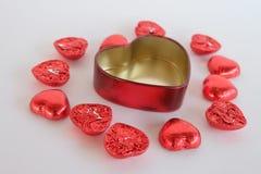 Chocolate del corazón del amor Día de tarjeta del día de San Valentín Fotografía de archivo