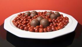 Chocolate 3 del día de tarjeta del día de San Valentín Imagen de archivo libre de regalías