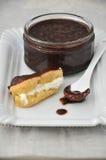Chocolate del Eclair Imagen de archivo libre de regalías