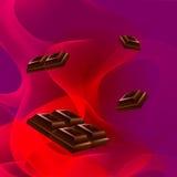 Chocolate del fondo Foto de archivo