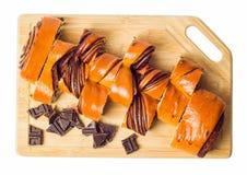 Chocolate del rollo Foto de archivo