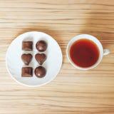 Chocolate del té Fotografía de archivo libre de regalías