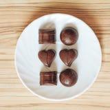 Chocolate del té Imagen de archivo