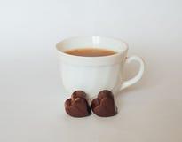 Chocolate del té Imágenes de archivo libres de regalías