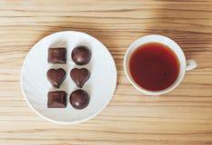 Chocolate del té Imagen de archivo libre de regalías