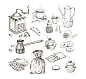 Chocolate del té del café Fotografía de archivo libre de regalías