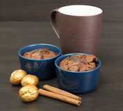 Chocolate desert Stock Images