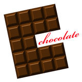 Chocolate. Design for logo, t-shirt, bag, illustration, ads etc. Royalty Free Stock Photography