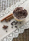 Chocolate dessert with cinnamon Royalty Free Stock Photos