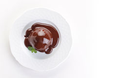 Chocolate dessert with cream cheese Royalty Free Stock Photos