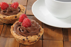 Chocolate dessert cups Stock Photos
