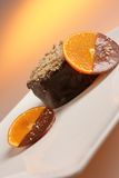 Chocolate dessert with fruit Royalty Free Stock Photography