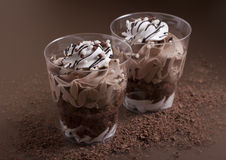 Chocolate dessert  . Royalty Free Stock Photography