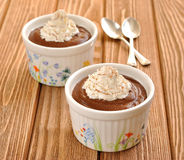 Chocolate dessert with whipped cream Royalty Free Stock Images