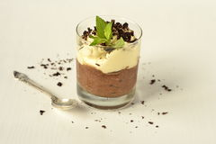 Chocolate dessert with whipped cream Royalty Free Stock Image