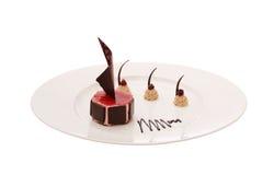 Chocolate dessert on the white background Stock Photos