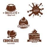 Vector isolated chocolate candy desserts splash Stock Photos