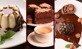 Chocolate desserts Royalty Free Stock Photography