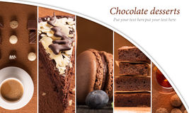 Chocolate desserts Royalty Free Stock Image