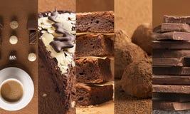 Chocolate desserts Stock Image