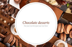 Chocolate desserts Royalty Free Stock Images