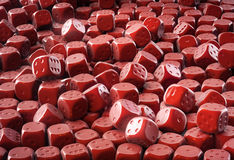 Chocolate dice Royalty Free Stock Image