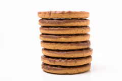 Chocolate Digestive Stock Image