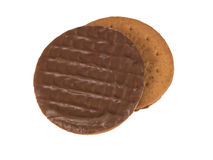 Chocolate Digestive Biscuits Royalty Free Stock Photos