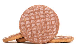 Chocolate digestive biscuits Stock Photos