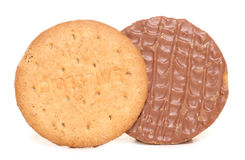 Free Chocolate Digestive Biscuits Royalty Free Stock Photos - 26673808