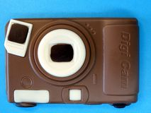 Chocolate digital camera Royalty Free Stock Photos