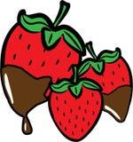 Chocolate Dip Strawberries Stock Photo
