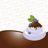 Chocolate dipped bilberries Stock Photo