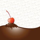 Chocolate dipped cherry Royalty Free Stock Image