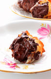 Chocolate dipped coconut macaroons Stock Photos