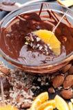 Chocolate Dipped Orange Slice Royalty Free Stock Photo