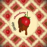 Chocolate dipped strawberries Stock Photos