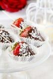 Chocolate dipped strawberries Stock Image