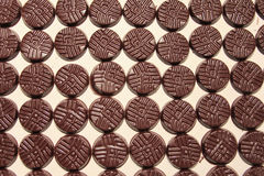 Chocolate discs Royalty Free Stock Photo