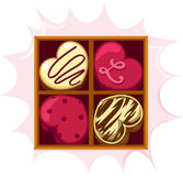 Chocolate do coração Fotografia de Stock