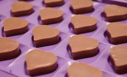 Chocolate do coração Imagens de Stock Royalty Free