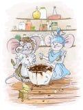 Chocolate do cozinheiro de Mouses Fotos de Stock