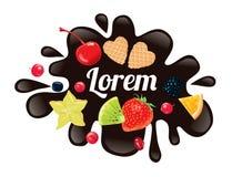 Chocolate do logotipo Imagem de Stock Royalty Free